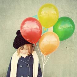 little girl ballons