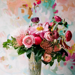painterly flower arrangement