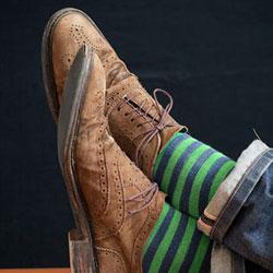 He Wears and She Wears - Green Socks