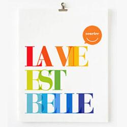 A La Vie Est Belle French Print / Etsy