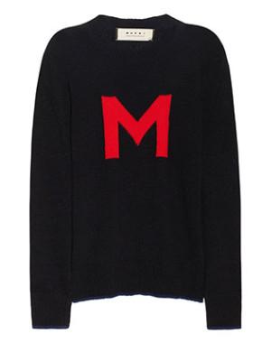 M-intarsia wool-blend sweater, Marni