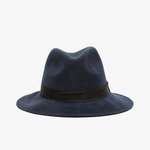 HOUSTON FEDORA IN NAVY