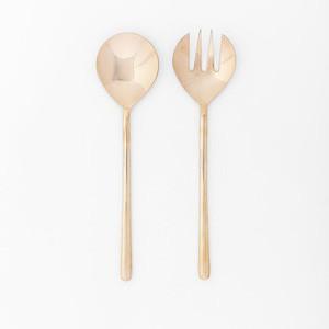 Rose Gold Salad Serving Set, Set of 2, Fork + Spoon