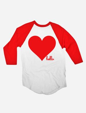 Valentine's Day (Adult) 3/4 Sleeve Red Raglan