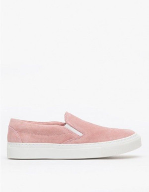 Pink Suede Leather Sneakers