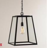 Cost Plus World Market Four-Sided Glass Hanging Pendant
