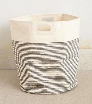 Pehr Pencil Stripe Canvas Basket