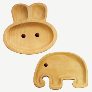 Kids Wooden Plates