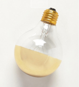 Half Gold Light Bulb
