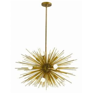 Sputnik Brass Chandelier