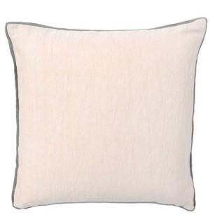 Leif, Contrast Trim Linen Pillow