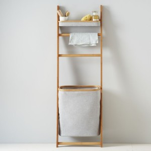 West Elm, Bamboo Leaning Bath with Hamper