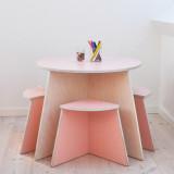 Circle Table & Stools Set, Small Design