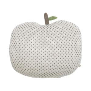 Apple Pillow | White + Indigo Dots