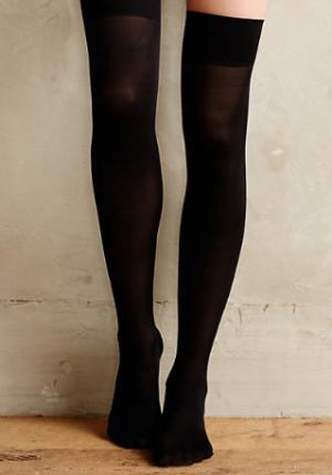 Opaque Thigh Highs