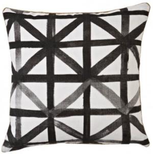 Bonnie + Neil Linen Geometric Black + White Pillow