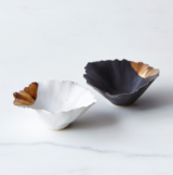 His & Her Gold-Dipped Seashell Pinch Bowls
