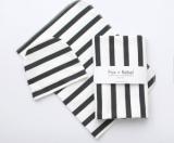 Organic Cotton Baby Blanket Modern Black and White Stripes