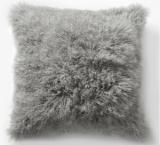 "Mongolian Lamb Pillow Cover - Platinum (16"" Sq.)"