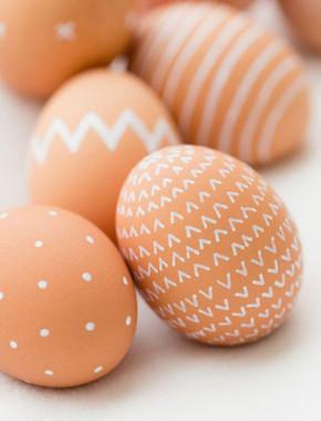 Painted Brown Eggs
