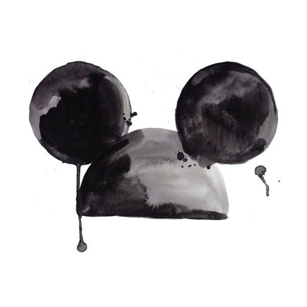 mickey mouse ears art print