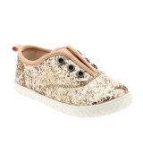 Glittery Canvas Slip-Ons for Baby