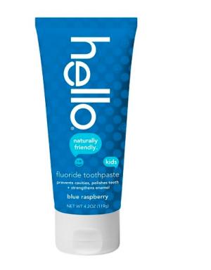 Hello Blue Raspberry Fluoride Toothpaste for Kids - 4.2 oz