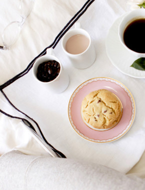 breakfast in bed with coffee