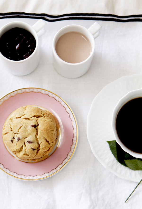 vintage plate with cookies