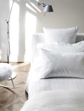 stylish white bedroom