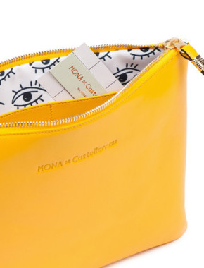 yellow leather goods