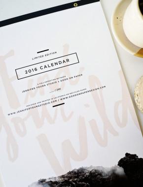 Jennifer Young & Good on Paper 2016 Calendar