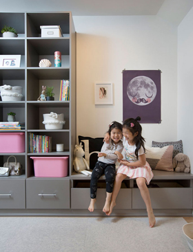 Before & After: Boring Storage Room Turns Into a Functional Kids Playroom